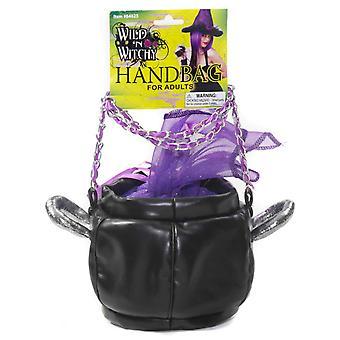 Calderone strega streghetta Halloween viola donne Costume borsetta