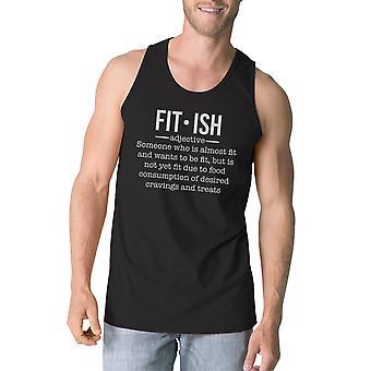 Fit-ish miesten musta hauska treenata toppi Fitness lahja hänelle