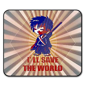 Anime-Katana Cool Anti-Rutsch-Mauspad Pad 24 x 20 cm | Wellcoda
