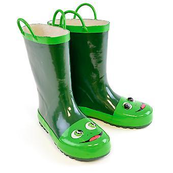 الجوارب Uwear للجنسين الطفل الجدة 3D الضفدع ولينغتون الأحذية - الأخضر - 1 طفل المملكة المتحدة
