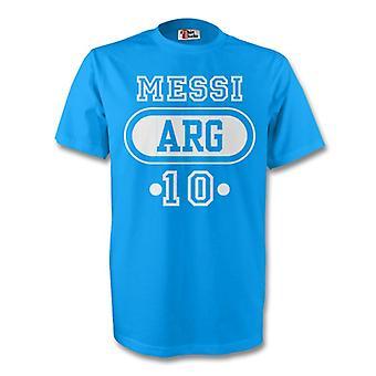 Lionel Messi Argentina Arg camiseta (azul cielo) - niños