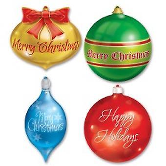 Рождественские украшения картона вырезать 36 см