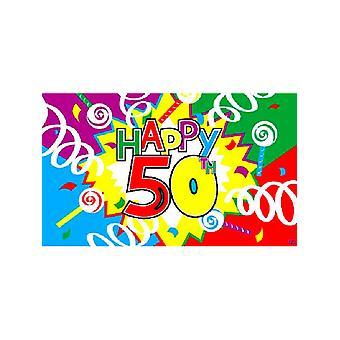 Happy 50th Birthday Flag