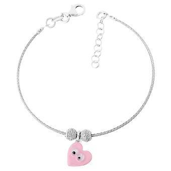Orphelia Silver 925 Kids Bangle Pink Heart  ZA-7141