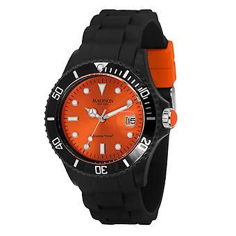 Candy tijd door Madison N.Y.. horloge unisex U4486-04-1 oranje