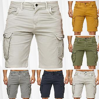 Mens Bermuda Cargo Shorts Stretch Jeans Look Short Capri Pants Summer Vintage