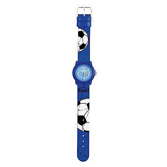 Scout kind horloge leren Crystal - voetbal jonge 280305030