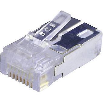 Modüler fiş korumalı CAT.5e Fiş, düz pim sayısı: 8P8C 943-SP-370808SM2-FS-B1000 Glassy BEL Stewart Konektörler 943-SP-370808SM2-FS-B1000 1 adet(ler)