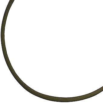 Seidencollier 925/-S oliv Seidenkordel oliv Seidenkette 42 cm