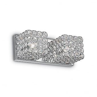 Ideell Lux Admiral tradisjonell 2 krystall vegg kube lys med krom ligaen