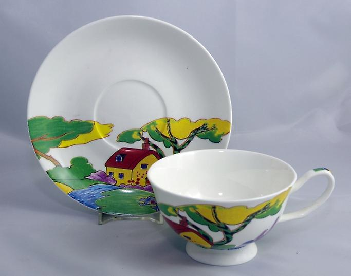 Dutch Bone China theekopje & schotel ArtDeco