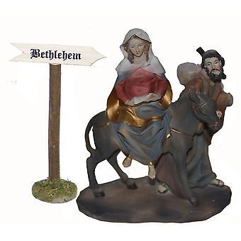 Marian ja Joosefin matkalla Bethlehem shield Seimi syntymä vakaa syntymä tarvikkeet