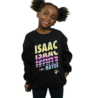 Isaac Hayes Girls Neon Neon Cut Sweatshirt