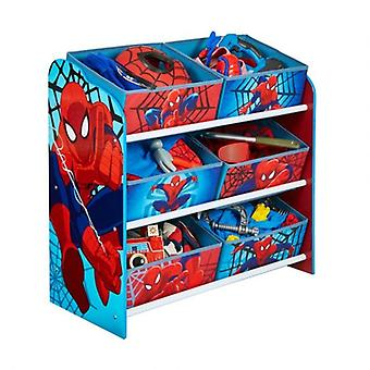 Rød og blå Spiderman legetøj butik hylde belastning planer