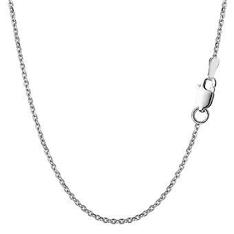 Sterling zilveren Rhodium Plated kabel Chain ketting, 1, 5mm