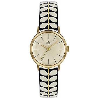 Orla Kiely | Ladies Patricia | Black And Cream Stem Print Strap | OK2266 Watch