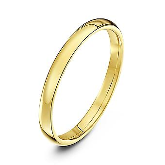 Star Wedding Rings 9ct Yellow Gold Light Court Shape 2mm Wedding Ring