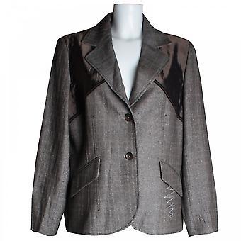 Tuzzi Contrast Silky Panel Blazer Style Jacket
