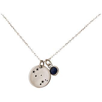 Constellation halsband horoskop Gemini tvillingar 925 silver, guldpläterad, Rose