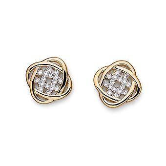 Oliver Weber Post Earring Polar Gold/Rhodium Crystal