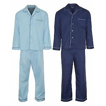 Mistrz mężczyźni przycisk przodu Piżama salon nosić (opakowanie 2)