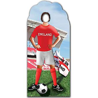 Engelse voetballer Stand In - Football / Soccer World Cup - Lifesize karton gestanst / Standee