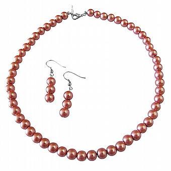 Biżuteria dla każdego ślub perły Cegła perły zestaw biżuterii