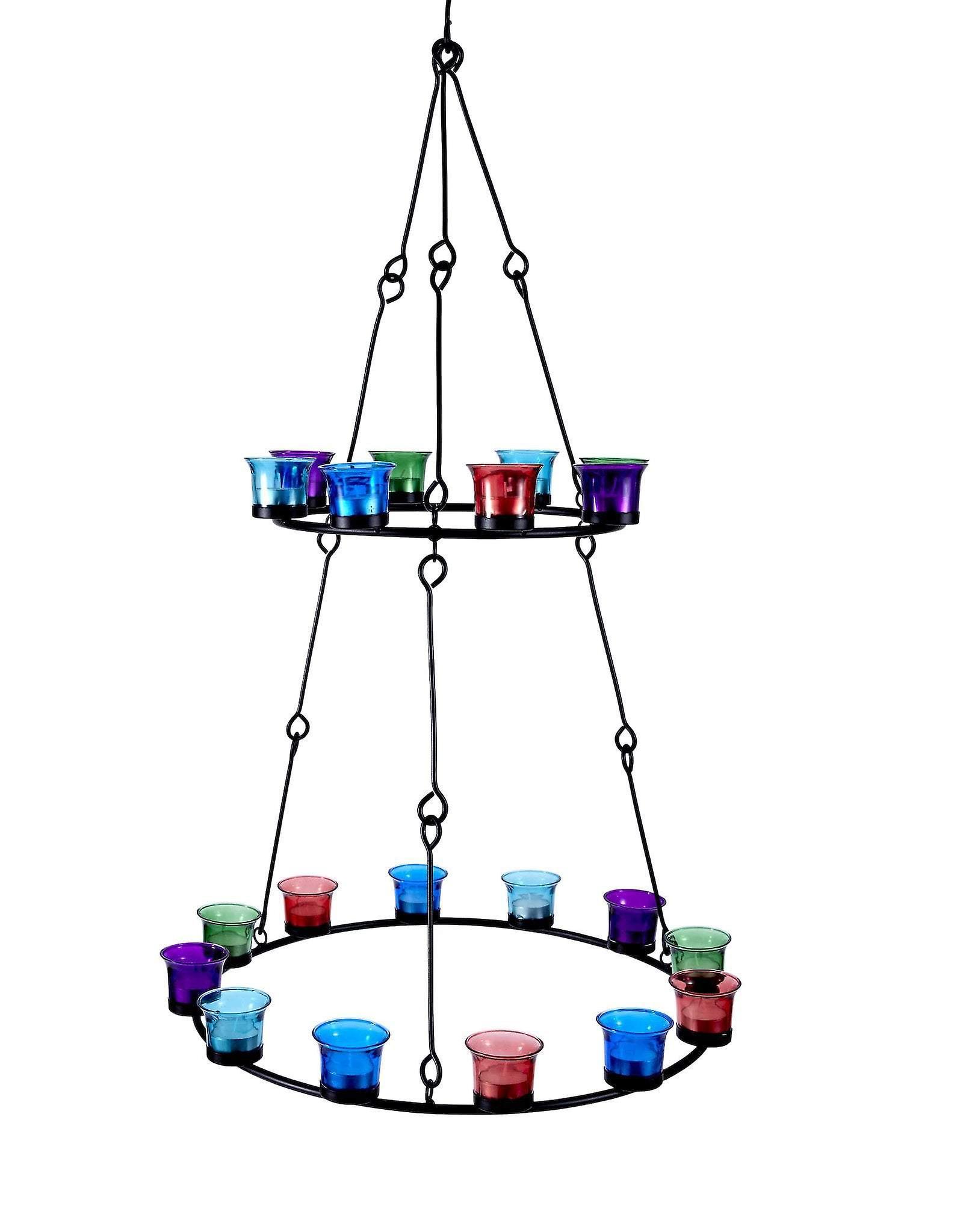 Double Tier Tea Light Chandelier