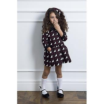 Vestido da menina de impressão geométrica