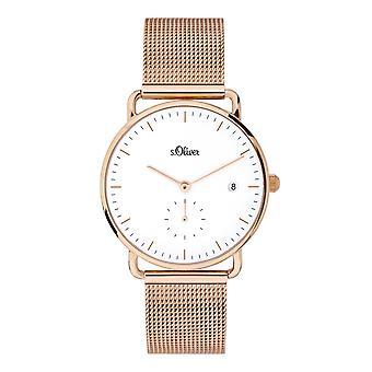 s.Oliver Damen Uhr Armbanduhr Edelstahl SO-3715-MQ