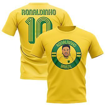Ronaldinho Brazil Illustration T-Shirt (Yellow)