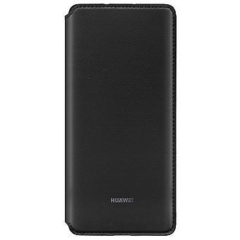 Plånbok svart för Huawei P30 per ursprungliga case cover väska fodral skal 51992866
