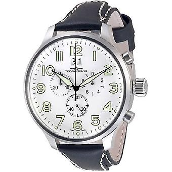 Zeno-montre mens watch super surdimensionné Chrono 6221-8040Q-a2