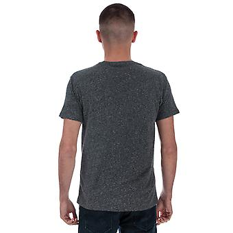 Mens Levis Ss Classic Pocket T-Shirt In Charcoal- Short Sleeve- Ribbed Collar-