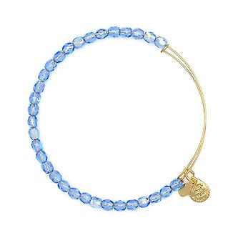 Alex and Ani Sky Rock Candy Beaded Gold Bangle BBEB176G