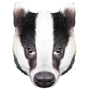 Badger Animal Single 2D Card Party Fancy Dress Mask