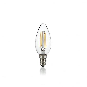 Ideal Lux Light Bulb Classic E14 4W Oliva Transparent 3000K