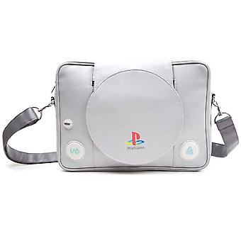 Playstation Messenger Bag console Shaped retro new Official Grey