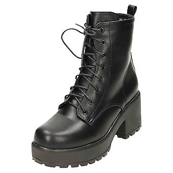Koi Footwear Platform Gothic Ankle Lace Up Zip Boots Chunky