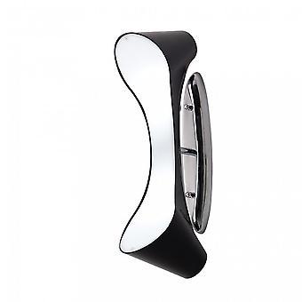 Mantra Ora Wall Lamp 2 Light E27, Gloss Black/White Acrylic/Polished Chrome