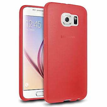 Samsung Galaxy S6 Hoesje Siliconen Rood - CoolSkin3T