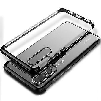 Huawei P20 Pro Zderzak Case Black - Backcover Clear