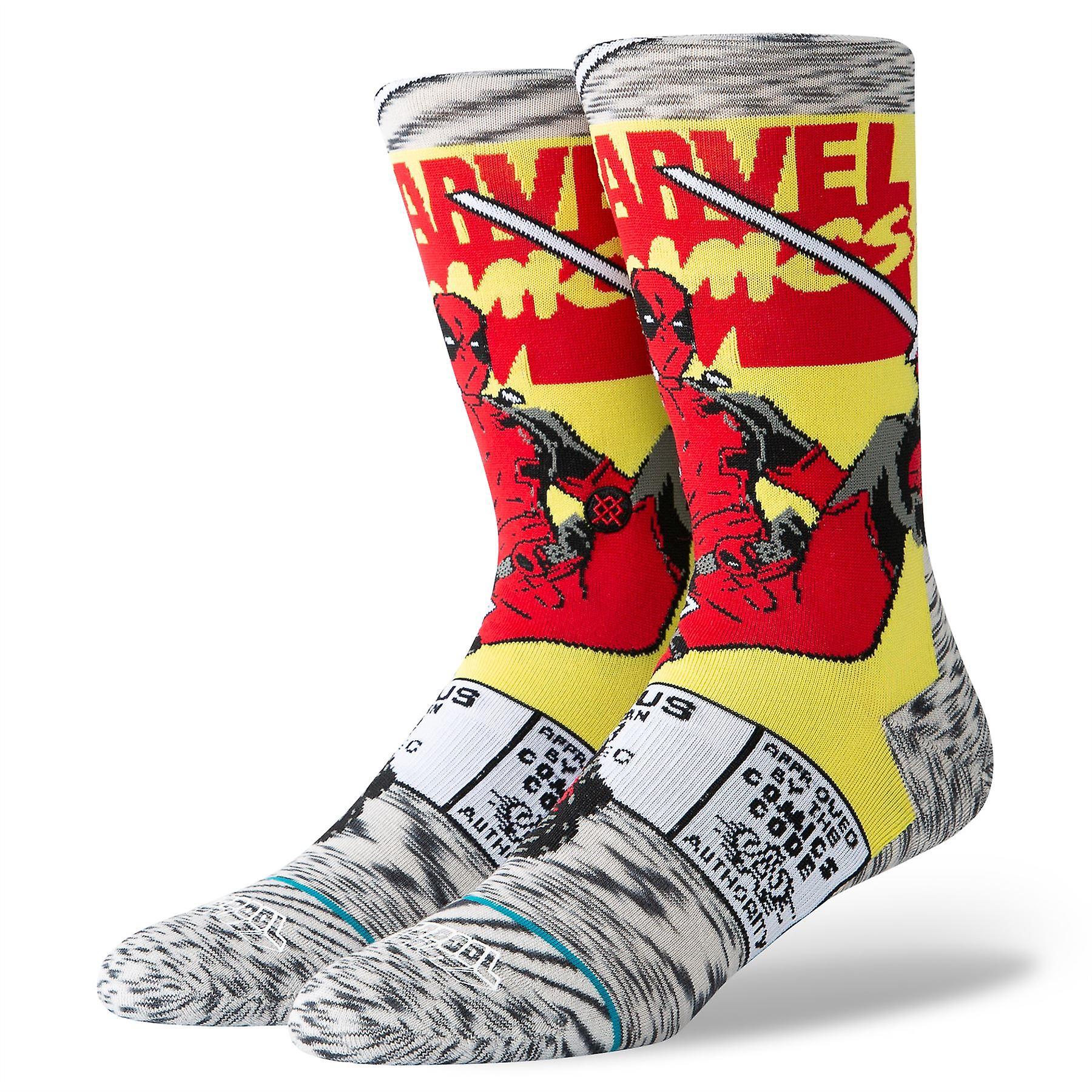 Stance Disney Mens Socks ~ Deadpool Comic (size L)