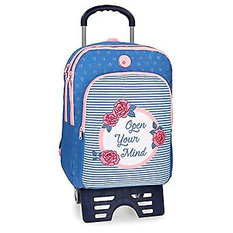Roll Road 44824N1 Double Backpack with Cart - Pink