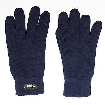 New Peter Storm Unisex Thinsulate Knit Fleece Gloves Navy