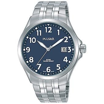 Pulse business Quartz Analog Man Watch with Stainless Steel Bracelet PS9629X1
