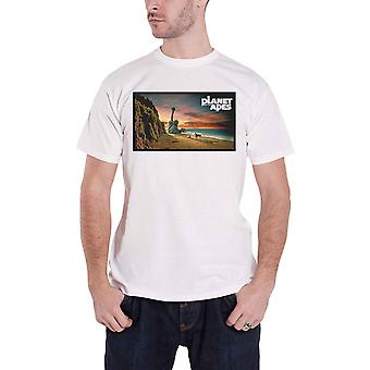 Planet Of The Apes T Shirt Movie Statue if Liberty Logo new Official Mens White