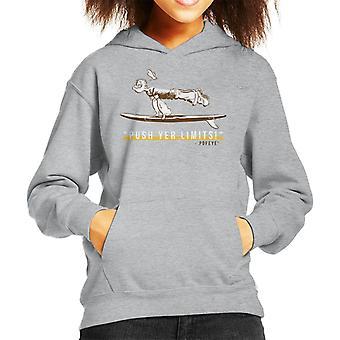 Popeye Push Yer Limits Surf Kid's Hooded Sweatshirt
