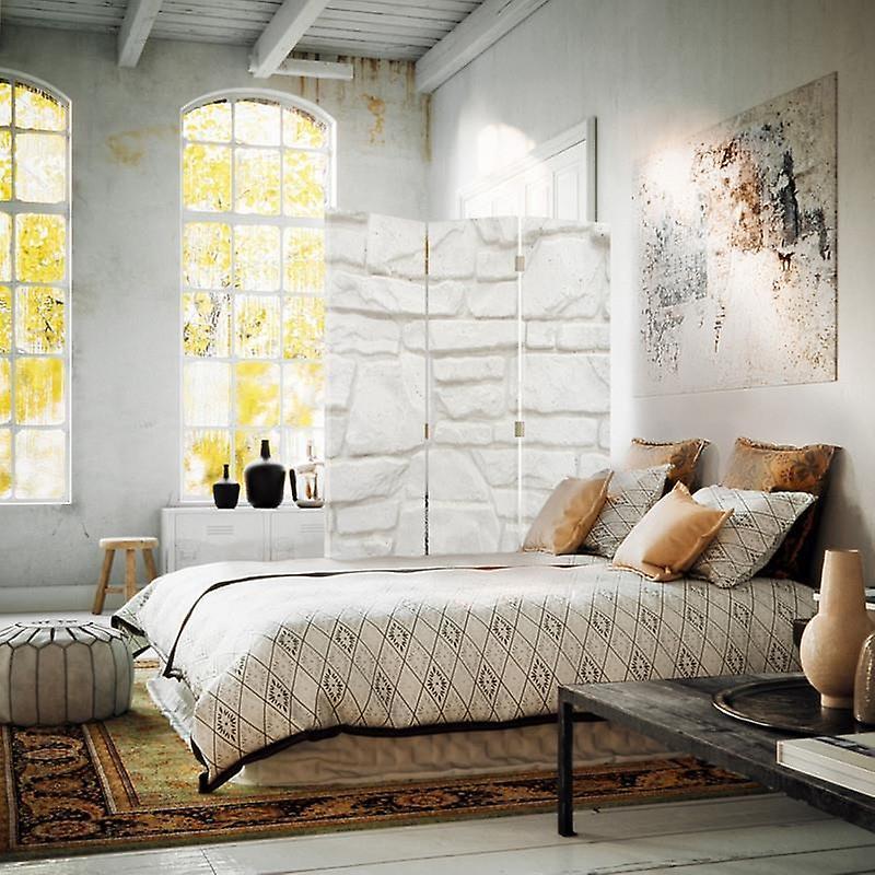 Room Divider, 3 Panneaux, Double-Sided, Rotatable 360 ?? Toile, grès de mur