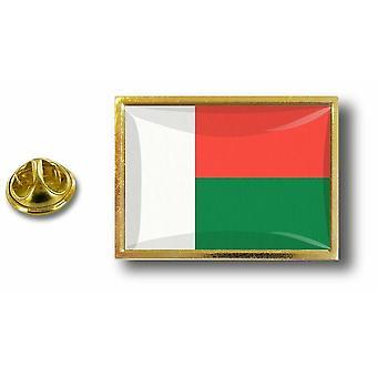 باين بينس شارة دبوس أبوس؛ معدن مع فراشة قرصة العلم مدغشقر مدغشقر